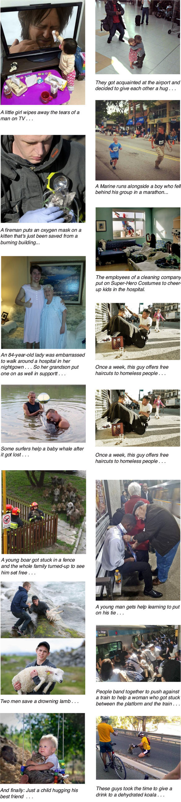 Different Acts of Kindness